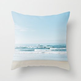 California Surfing Throw Pillow
