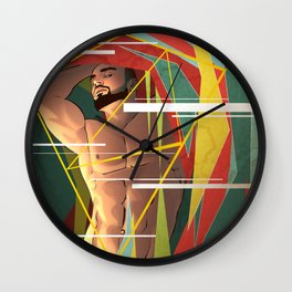 Colored Shards Wall Clock
