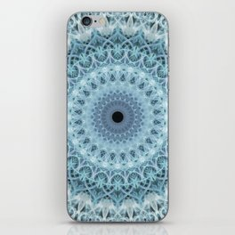 Mandala in cold winter tones iPhone Skin