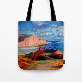 Dover in the Colors Of Ayers Rock Tote Bag
