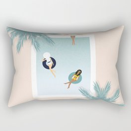 Summer Pool Day with friends Rectangular Pillow
