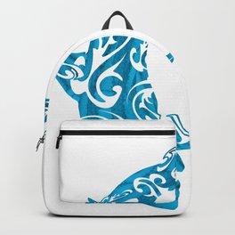Shark Dive Watercolor Save A Shark Backpack