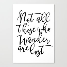 Wander quote Canvas Print