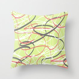 abstract lime Throw Pillow