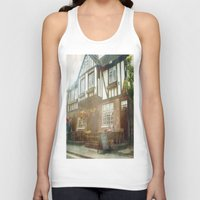 british Tank Tops featuring British Pub by Christine Workman