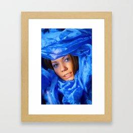 Colour: blue Framed Art Print