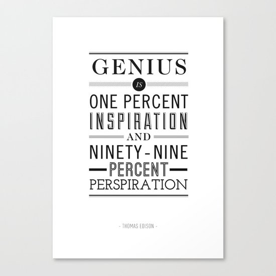 Type Poster - Thomas Edison Canvas Print