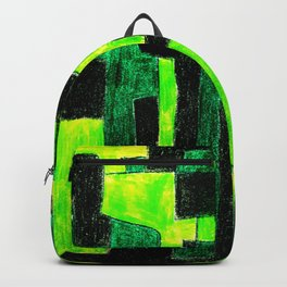 Three Green Puzzle Backpack