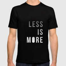 LESS IS MORE Black 2X-LARGE Mens Fitted Tee