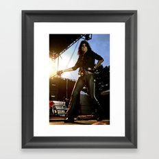 Alice Cooper Fence Stance Framed Art Print