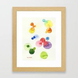 Abstract Watercolor Circles Framed Art Print
