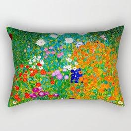 Gustav Klimt - Flower Garden Rectangular Pillow