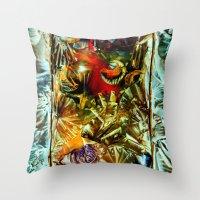 metallic Throw Pillows featuring Metallic by Vargamari