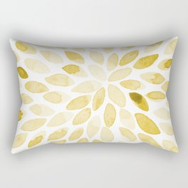 Watercolor brush strokes - yellow Rectangular Pillow