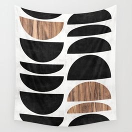 Mid-Century Modern Pattern No.7 - Concrete and Wood Wall Tapestry