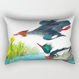 Red-breasted Merganser Bird Rectangular Pillow
