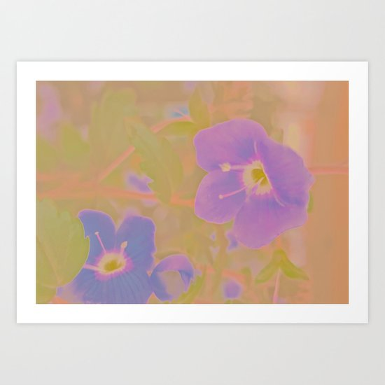 Georgia Blue, The Earth Laughs In Flowers Art Print