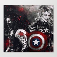 stucky Canvas Prints featuring Can You Love Me Again by Monika Gross