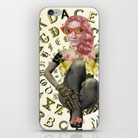 font iPhone & iPod Skins featuring FONT by Julia Lillard Art