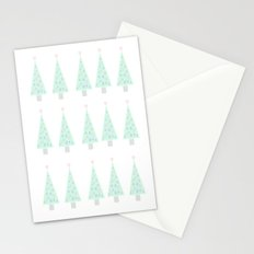 Pastel Christmas Tree Design Stationery Cards