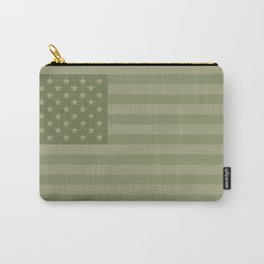 Camo Stars and Stripes – USA Flag in Military Camouflage Colors [FalseFlag 1] Carry-All Pouch
