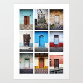 Spanish speaking doors Art Print