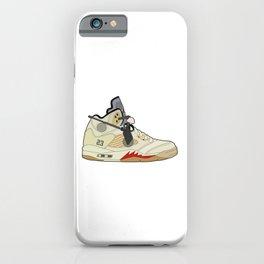 Jordan 5 Off-White (White) iPhone Case