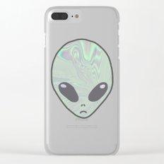 Alien Pastel Clear iPhone Case