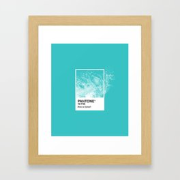 PANTONE SERIES – SPLASH Framed Art Print