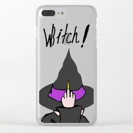 WBITCH! Clear iPhone Case