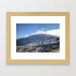The Drive to Cardrona Ski Fields from Queenstown, New Zealand Framed Art Print