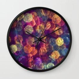 kaleidoscope rainbow Wall Clock