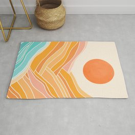 Adventure On The Horizon / Abstract Landscape Rug