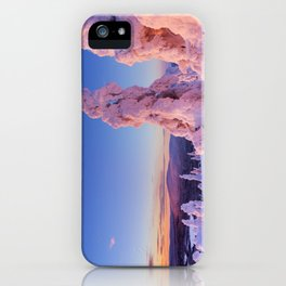 II - Sunset over frozen trees on a mountain, Levi, Finnish Lapland iPhone Case