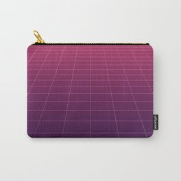 Minimalist Retro Style Grid Lines Carry-All Pouch