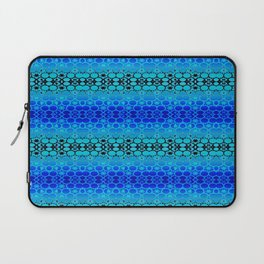 Retro India Lounge Pattern (tropical blue) Laptop Sleeve