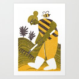 Rake Them Seeds Art Print