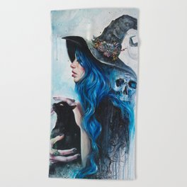Blue Valentine Beach Towel