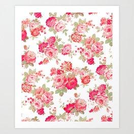Elise shabby chic on white Art Print