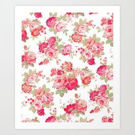 Elise shabby chic on white Art Print