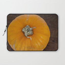 Perfectly Imperfect Pumpkin on Wood Laptop Sleeve