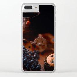 Grandma's Blueberry Muffins Clear iPhone Case