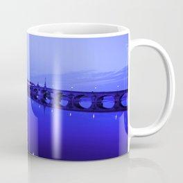 France landscape, Amboise, Loire valley, dusk, reflection, river, blue Coffee Mug