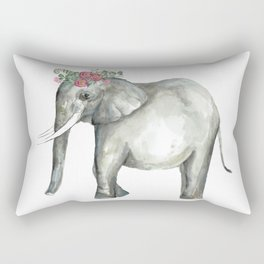 Ellie the Elephant and her flower crown Rectangular Pillow