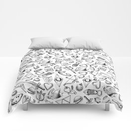 Zelda A Collection of Items Pattern Comforters
