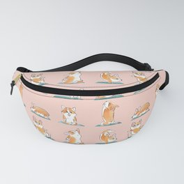 Corgi Yoga Watercolor Fanny Pack
