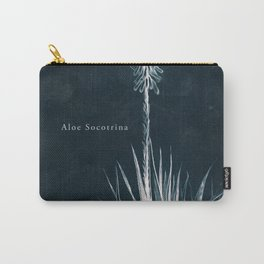 Cyanotype - Aloe Socotrina - Cropped Carry-All Pouch