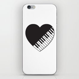 Piano Heart iPhone Skin