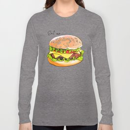 Illustration of a burger from fast food. Long Sleeve T-shirt