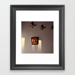 Sunlight on Wall Framed Art Print